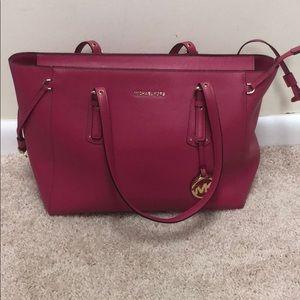 Pink large leather Michael Kors  shoulder bag